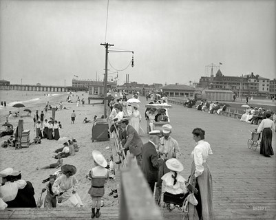 1905 – The New Jersey shore – Boardwalk and beach, Asbury Park