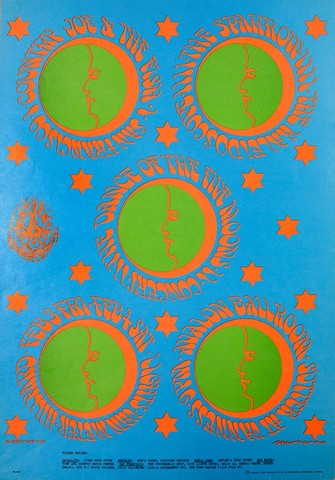 Victor Moscoso, Dance of the Five Moons, Country Joe & The Fish, 1967